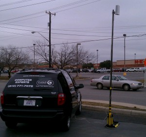 WiMAx San Antonio doing mobile testing with external CLEAR modem